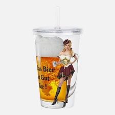 German Beer Girl Acrylic Double-wall Tumbler