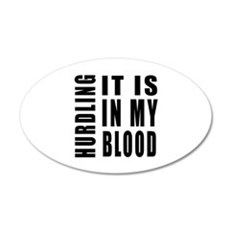 Hurdling it is in my blood 20x12 Oval Wall Decal
