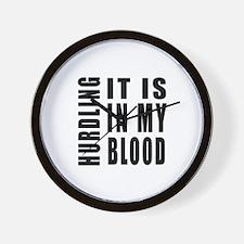 Hurdling it is in my blood Wall Clock