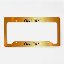 Custom Gold License Plate Holder