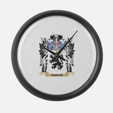 Jarrod Coat of Arms - Family Cres Large Wall Clock