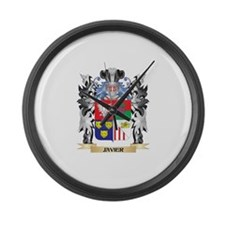 Javier Coat of Arms - Family Cres Large Wall Clock