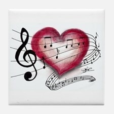 Love Music Tile Coaster