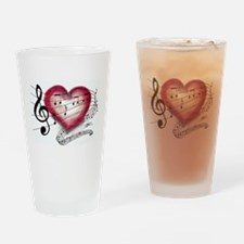 Love Music Drinking Glass