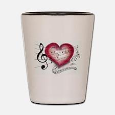 Love Music Shot Glass