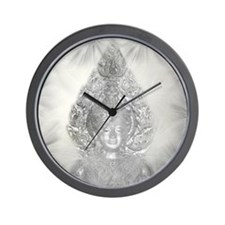 buddha in silver Wall Clock