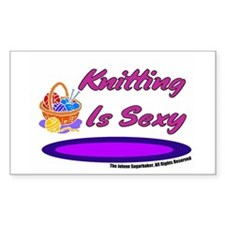 Knitting Is Sexy Rectangle Decal