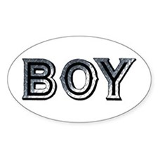 Boy Oval Decal