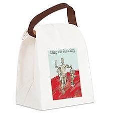 Athletics Running design Canvas Lunch Bag