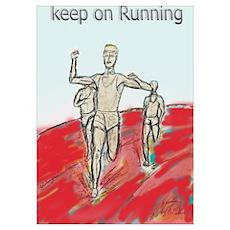 Athletics Running design Poster