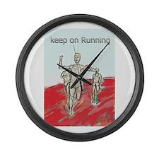 Athletics Running design Large Wall Clock