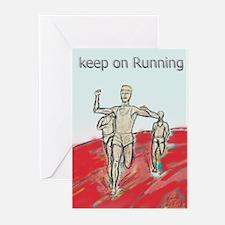 Athletics Running design Greeting Cards