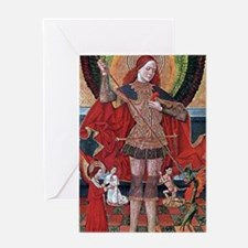 Medieval Painting Greeting Card