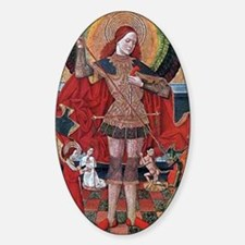 Medieval Painting Sticker (Oval)