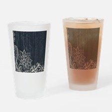 white lace black chalkboard Drinking Glass