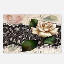 paris black lace white ro Postcards (Package of 8)