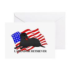 Labrador Retriever USA Greeting Card