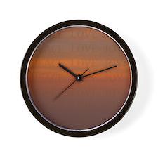 Unique Peace beauty joy Wall Clock