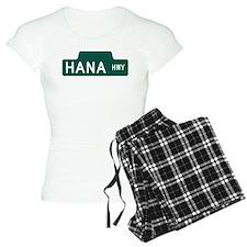hana highway, hi road Pajamas