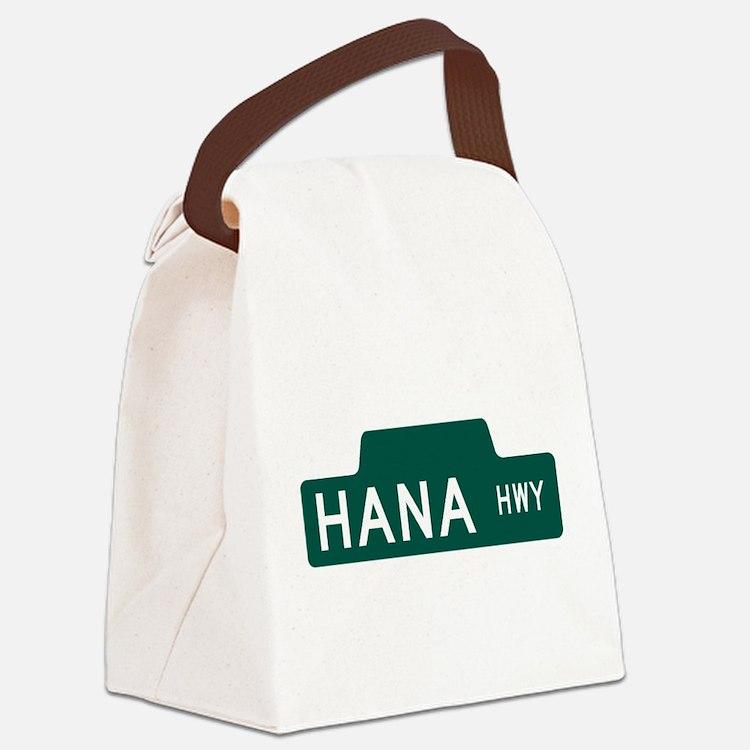 hana highway, hi road Canvas Lunch Bag
