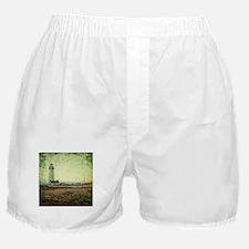 coastal nautical vintage lighthouse Boxer Shorts