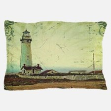 coastal nautical vintage lighthouse Pillow Case