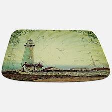 coastal nautical vintage lighthouse Bathmat