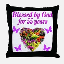 CHRISTIAN 55TH Throw Pillow