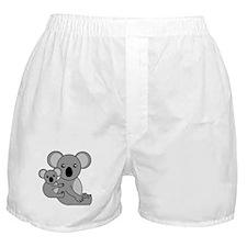 Cute Koala Bear and Baby Boxer Shorts