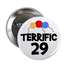 Terrific 29 Birthday Button