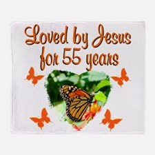 CHRISTIAN 55TH Throw Blanket