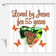 CHRISTIAN 55TH Shower Curtain