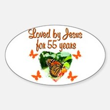 CHRISTIAN 55TH Sticker (Oval)