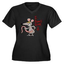 Unique Dont care Women's Plus Size V-Neck Dark T-Shirt
