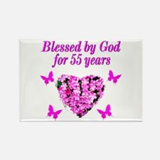 CHRISTIAN 55TH Rectangle Magnet