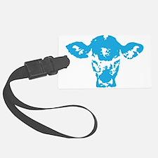 Blue cow Luggage Tag