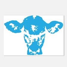 Blue cow Postcards (Package of 8)