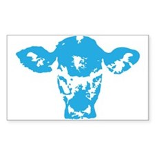 Blue cow Decal