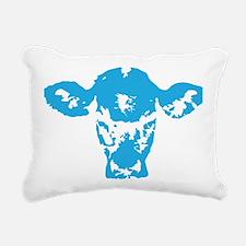 Blue cow Rectangular Canvas Pillow