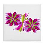 Purple Flowers Tile Coaster