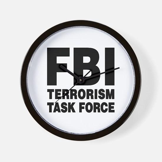 FBI Terrorism Task Force Wall Clock