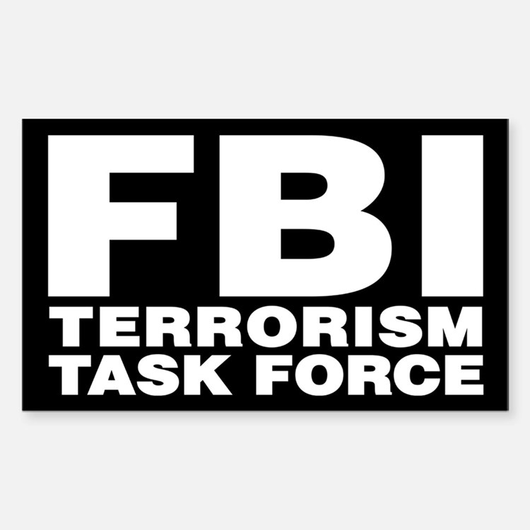 FBI Terrorism Task Force Rectangle Decal