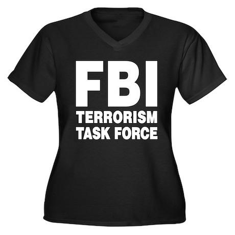 FBI Terrorism Task Force Women's Plus Size V-Neck