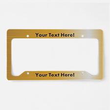 Custom Orange Metal License Plate Holder
