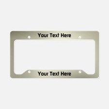 Custom Platina License Plate Holder