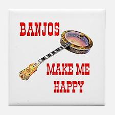 HAPPY BANJO Tile Coaster