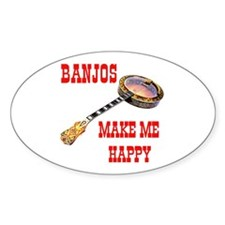 HAPPY BANJO Oval Decal