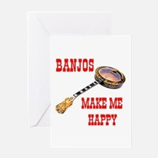 HAPPY BANJO Greeting Card