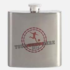 Personalized Sport Tag Flask