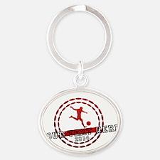 Personalized Sport Tag Oval Keychain